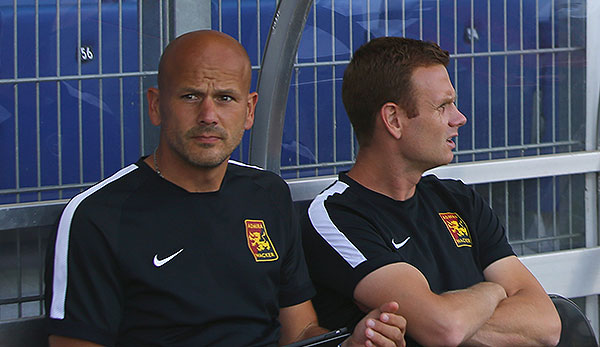 Co-Trainer Michael Horvath und Tormann-Trainer Walter Franta