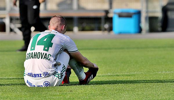 Diagnose eingetroffen: SK Rapids Srdjan Grahovac mit Muskeleinriss an der Wade