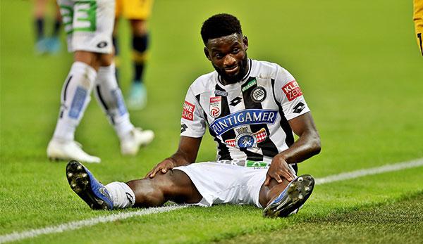Isaac Donkor von SK Sturm Graz muss aus Trainingslager abreisen