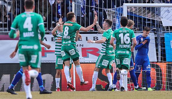 Le SK Rapid Vienna avec un nul à Hartberg