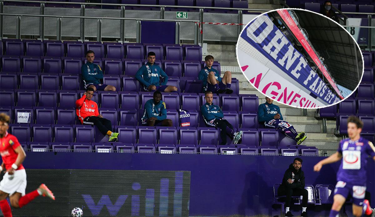Austria-Fans protestieren gegen Geisterspiele: Fußball ohne Fans ist nichts!