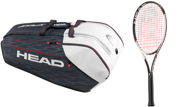 Die Head Tasche Djokovic 12R Monstercombi und der Schläger G Touch Speed MP