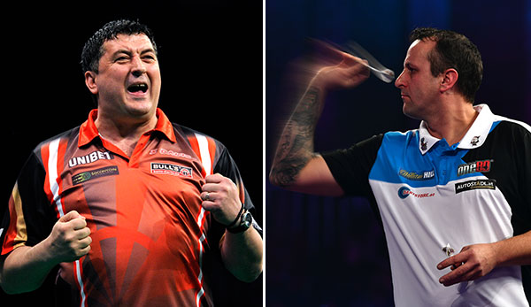 Mensur Suljovic und Zoran Lerchbacher beim World Cup of Darts.