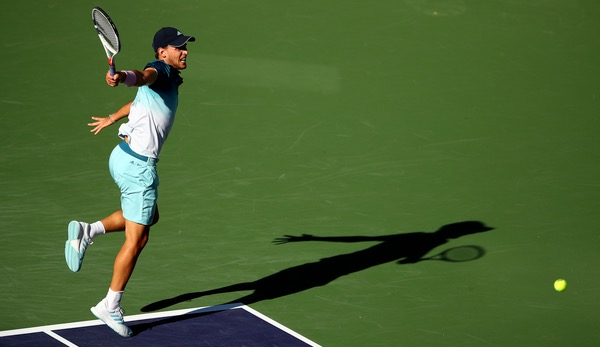 Dominic Thiem im Finale von Indian Wells.