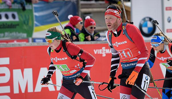 Biathlon-WM: Hauser/Eder ohne Medaille bei Single-Mixed-Staffel