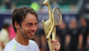 KITZBUEHEL,AUSTRIA,23.JUL.16 - TENNIS - ATP World Tour, Generali Open. Image shows Paolo Lorenzi (ITA). Keywords: trophy. Photo: GEPA pictures/ Andreas Pranter