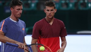 KITZBUEHEL,AUSTRIA,22.JUL.16 - TENNIS - ATP World Tour, Generali Open. Image shows Dennis Novak and Dominic Thiem (AUT). Photo: GEPA pictures/ Andreas Pranter