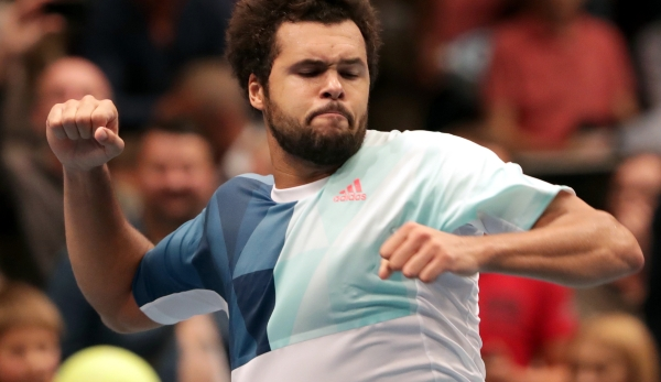 VIENNA,AUSTRIA,28.OCT.16 - TENNIS - ATP World Tour, Erste Bank Open. Image shows the rejoicing of Jo-Wilfried Tsonga (FRA). Photo: GEPA pictures/ Walter Luger