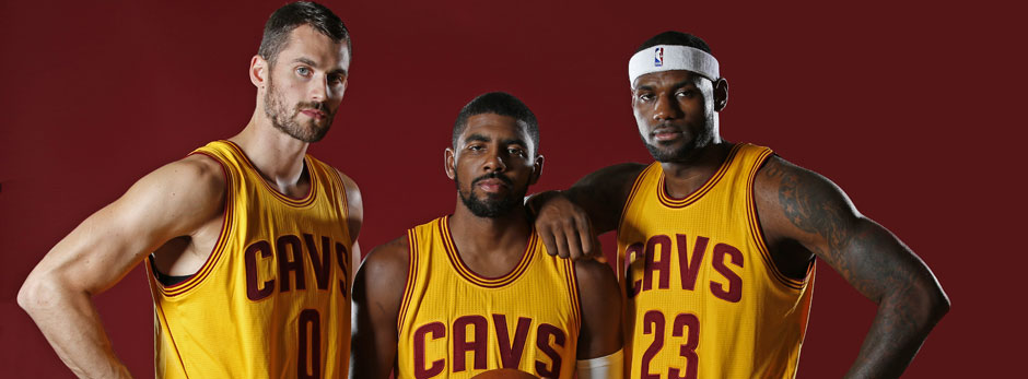 Kevin Love, Kyrie Irving, LeBron James, Cleveland Cavaliers