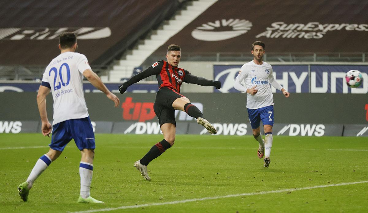 Eintracht Frankfurt - FC Schalke 04 3:1: Traum-Comeback! Jovic schießt SGE zum Sieg - Könisgblau wieder Letzter