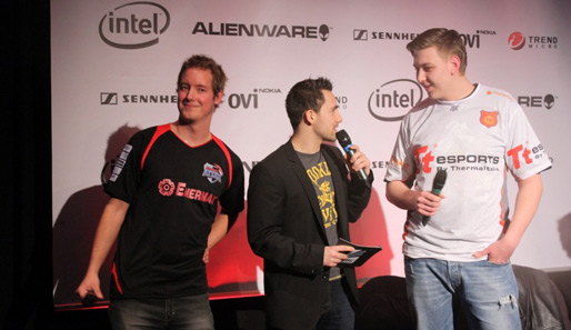 Counter-Strike: Source-Spieler von Alternate und Thermaltake auf dem Intel Friday Night Game in Oberhausen.