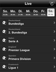 iPhone-App, Ticker
