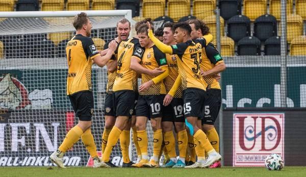 Yannick Stark hat den 1:1-Ausgleich für Dynamo Dresden nur wenige Minuten nach dem 0:1 erzielt.