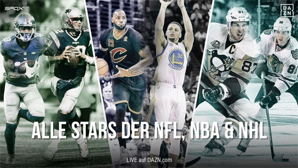 NFL, NBA, NHL