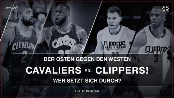 Cleveland Cavaliers vs Los Angeles Clippers live auf DAZN