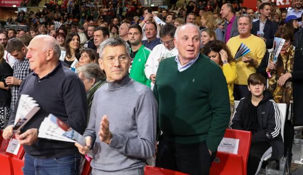 Pensionär Hoeneß sieht Niederlage der Bayern-Basketballer gegen Panathinaikos