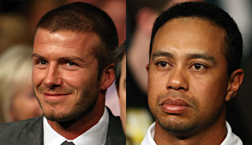 David Beckham und Tiger Woods