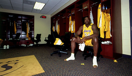 Shaq in der Lakers-Kabine