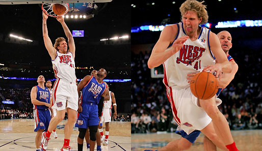 Nowitzki in Action: Er schaffte 13 Punkte, 4 Rebounds, 2 Assists