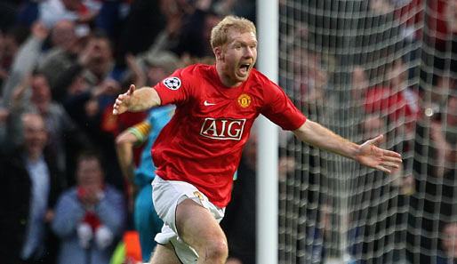 Fußball, Champions League, manchester, barcelona, united, barca, old trafford, ManUtd, halbfinale, scholes