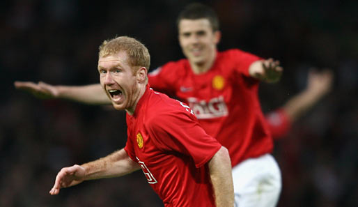 Fußball, Champions League, manchester, barcelona, united, barca, old trafford, ManUtd, halbfinale, scholes, carrick