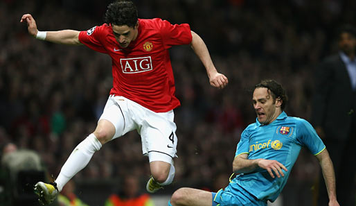 Fußball, Champions League, manchester, barcelona, united, barca, old trafford, ManUtd, halbfinale, milito, hargreaves