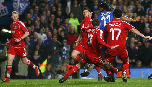 Fußball, Champions League, chelsea, liverpool, london, reds, blues, stamford bridge, halbfinale, drogba, arbeloa, alonso, riise