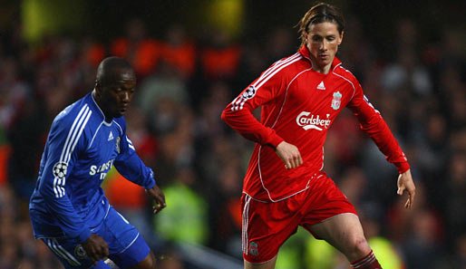 Fußball, Champions League, chelsea, liverpool, london, reds, stamford bridge, halbfinale, torres, makelele