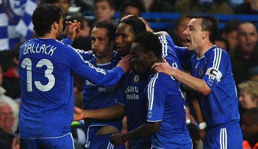 Fußball, Champions League, chelsea, liverpool, london, reds, stamford bridge, halbfinale, ballack, drogba, terry, essien, carvalho