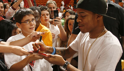 Rapper Bow Wow bei den Miami Heat