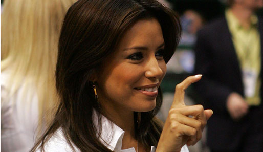 Desperate Housewive Eva Longoria bei den San Antonio Spurs