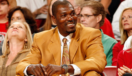 "Ex-Star Hakeem ""The Dream"" Olajuwon bei den Houston Rockets"