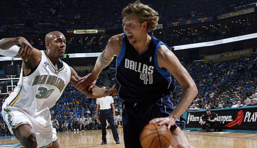 Spiel 1: New Orleans Hornets - Dallas Mavericks 104:92 (Playoff-Stand 1-0)