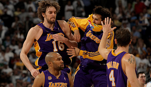 Denver Nuggets, Los Angeles Lakers, Radmanovic, Gasol, Fisher