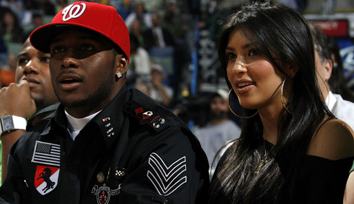 New-Orleans-Footballer Reggie Bush und TV-Star Kim Kardashian