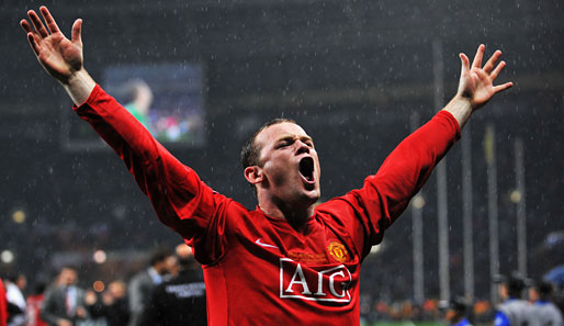 Champions League, Finale, Moskau, Rooney