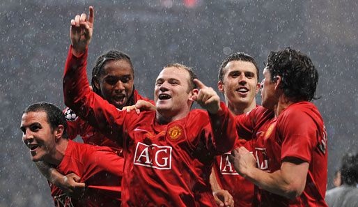 Champions League, Finale, Moskau, Rooney, Hargreaves