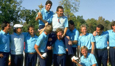 1987 in Muirfield Village, Ohio: USA - Europa: 13:15. Bernhard Langer war im Team von Tony Jacklin dabei