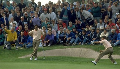 1989 in The Belfry, England: Europa - USA: 14:14. Ein magisches Duo bildeten Severiano Ballesteros und Jose Maria Olazabal