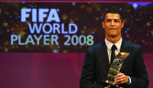 Weltfussballer des Jahres 2008 Cristiano Ronaldo