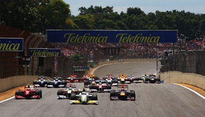 Start in der Formel 1 beim Grand Prix von Brasilien in Interlagos