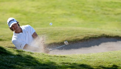 Aaron Baddeley in der dritten Runde der Justin Timberlake Shriners Hospitals for Children Open