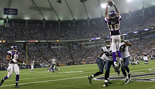 Receiver (meiste Receiving Yards): 3. Sidney Rice (Minnesota Vikings, Nr. 18): 56 Receptions, 964 Yards, 4 Touchdowns, kein Fumble