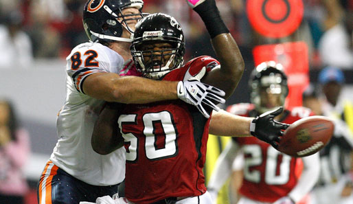 Meiste Tackles: Curtis Lofton (Atlanta Falcons, Nr. 50): 109 Tackles, 2 Forced Fumbles