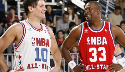 "Mavericks-Besitzer Mark Cuban und Schauspieler Chris Tucker (""Rush Hour"") beim Celebrity Game"