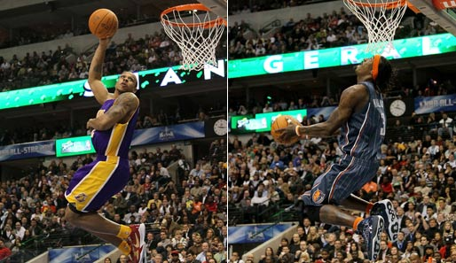 Nebendarsteller: Shannon Brown (Los Angeles Lakers) und Gerald Wallace (Charlotte Bobcats)