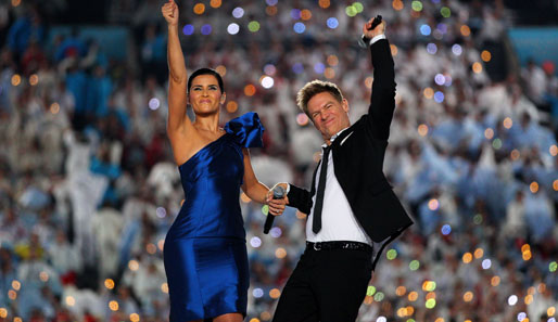 Nelly Furtado und Bryan Adams im BC Place