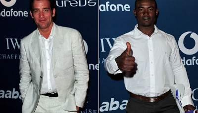 "Schauspieler Clive Owen (""The International"", ""Shoot 'Em Up"") und Golfer Manuel de los Santos"