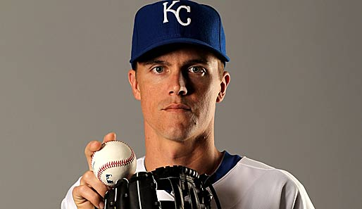 Mit dem Cy-Young-Award als bester Pitcher der AL 2009 ausgezeichnet und Hoffnungsträger der ganzen Kansas City Royals Franchise: Zack Greinke, Starting Pitcher