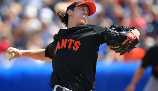 Unorthodoxer Wurfstil, Spitzname: The Freak. Und dennoch war der Giants-Star 2008 und 2009 der beste Pitcher der National League: Tim Lincecum, Starting Pitcher